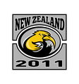 kiwi rugby player with ball NZ 2011 vector image vector image