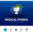 Medical symbol icon in different style vector image vector image