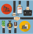 oil business modern concept design flat vector image
