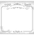 ornamental retro elegant square background border vector image vector image