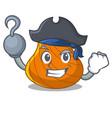 pirate hard shell character cartoon vector image vector image