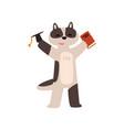 raccoon graduate student cute animal cartoon vector image vector image