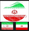 Scratched flag of Iran vector image vector image
