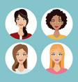 set women friends community vector image vector image