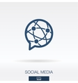 Social media concept icon logo vector image
