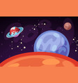 space and planet landscape vector image