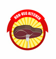 Steak on a fork Kitchen excludes vegetables meat vector image vector image