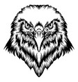 tattoo eagle head with good animation vector image