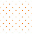 tile pattern with orange polka dots on white vector image