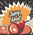 turkey meat design vector image vector image