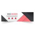 web header modern red black background imag vector image vector image