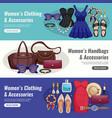 women accessories horizontal banner set vector image vector image