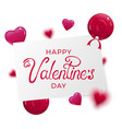 happy valentine day banner vector image