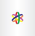 logo star colorful symbol icon vector image
