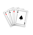 set of four aces deck of cards vector image