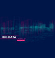 3d big array data backgrounds with points grid vector image vector image