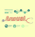 annual checkup ideas concept with stethoscope vector image vector image