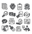 approved icons set on white background vector image vector image