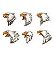 Bald Eagle emblems set vector image