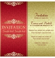 Baroque invitation gold and red vector image vector image