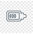 battery almost full concept linear icon isolated vector image