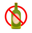 beer are not allowed red forbidden sign on white vector image