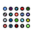 black rounded background social media icon 2019 vector image
