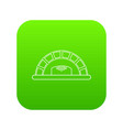 bread oven icon green vector image vector image
