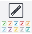 Bubble level sign icon Spirit tool symbol vector image vector image