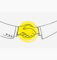 business handshake picture contains idea of vector image vector image