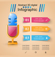 business infographics microphone icon vector image vector image