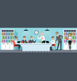 business meeting people working in the office vector image vector image