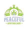 cannabis leaf oil vintage logo design vector image