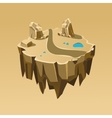 Cartoon Stone Isometric Island for Game vector image