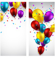 Celebrate banners with balloons vector image vector image
