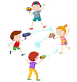 Children playing with water gun