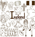 collection irish icons vector image vector image