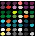 Color ink blots seamless pattern vector image