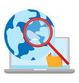 concept global search isolated web symbol vector image