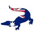 Crocodile Australia vector image vector image