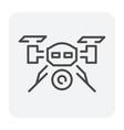 drone icon black vector image vector image