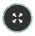 four arrows computer symbol vector image vector image