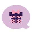 giftbox present bubble vector image