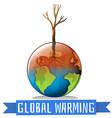 Global warming and sign vector image