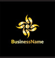 gold leaf business logo vector image vector image