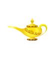 golden elegant magic lamp arabian fairy tale vector image