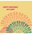 Happy Birthday message card with red and blue vector image