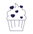 Happy valentines day sweet cupcake hearts love