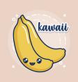 kawaii bananas icon vector image vector image