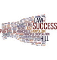 law of success part iii text background word vector image vector image